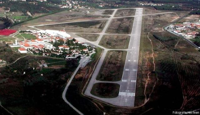 air photo of the airfield
